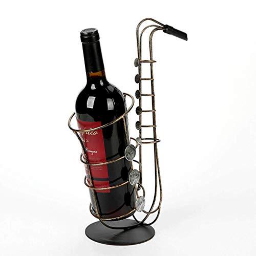 JIU Eisen Weinregal Europäischen Stil Multifunktionale Saxophon Ornamente Wohnzimmer Weinflasche...