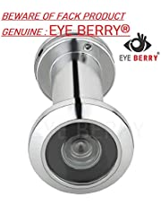EYE BERRY Brass Ultra Clear, 180 Degree Door Eye/Viewer with Back Cover (Satin Nickel) for Safe and Secure Home