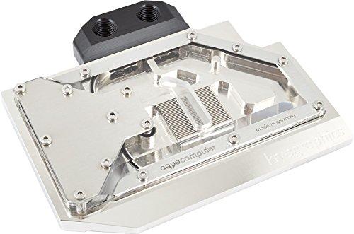 Aqua Computer 23655Karte Video Wasser und Gas Kühlelemente-Gewässer und Kühlmittel (Kupfer, Nickel, Glas Acryl, Edelstahl, Nickel) -