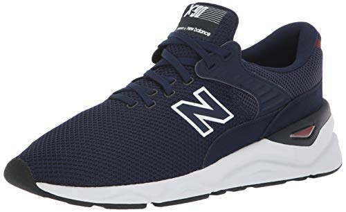 New Balance X 90, Baskets Homme, Bleu (PigmentMercury Red Crf), 45.5 EU