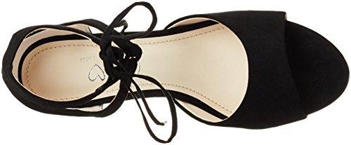 Another Pair of Shoes Siennae1, Sandales Bout Ouvert Femme Noir (Black01)