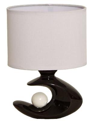 BRUBAKER Tisch- oder Nachttischleuchte 25 cm Schwarz Weiß Design Trend von Allcon auf Lampenhans.de