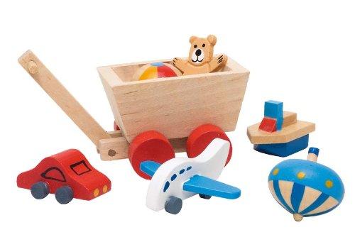 Goki 51938 Puppenhaus-Kinderzimmer Spielzeug 7-teilig