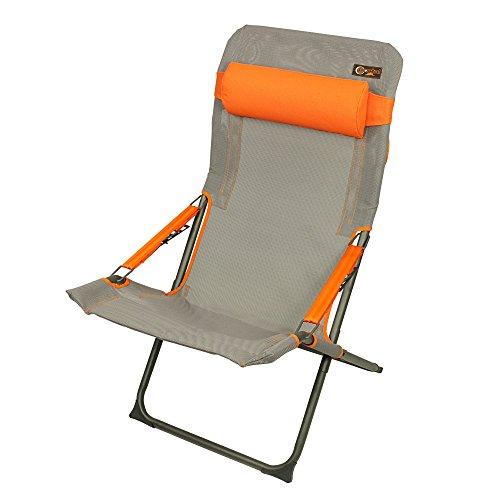 Portal Eddy - Camping-Stuhl, Sunlounger mit Kopfpolster, verstellbare Rückenlehne, max. 100kg