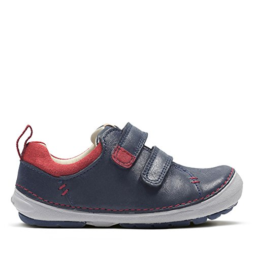 Clarks Softly Toby Fst Boys First Shoes 4 E Navy