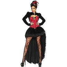 Elegante Burlesque-disfraz para mujer negro/rojo multicolor Talla:xx-large