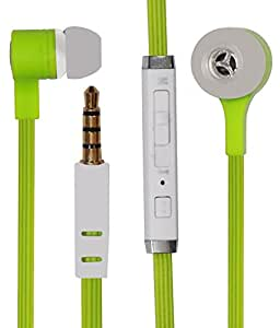 Premium In Ear Bud Handsfree Headset Earphones 3.5mm Jack with Mic Compatible For LENOVO A3690-GREEN