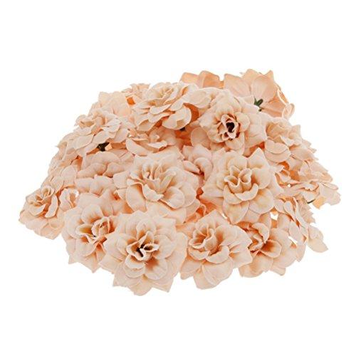 ROSENICE Teste di fiori di seta fiori artificiali per la decorazione domestica del partito a (Seta Capo)