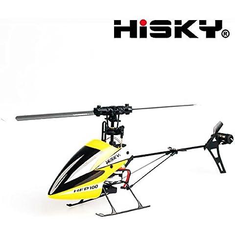 Bluelover Hisky HFP100 V2 4CH 6 Axis Flybarless RC helicóptero girocompás BNF