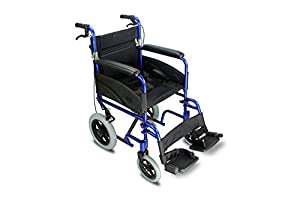 Z-Tec Lightweight Folding Aluminium Transit Wheelchair (Choose Your Colour)