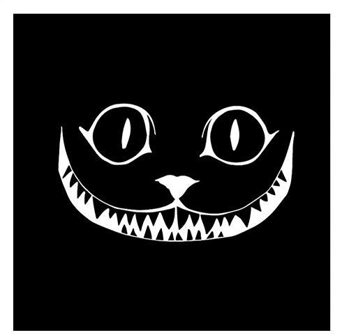 15,2 * 8,9 CM Katze Knurren Lächeln Gesicht Halloween Horror Vinyl Auto Aufkleber Fenster Dekoration Aufkleber/3PCS (Gesicht Katze Diy Für Halloween)