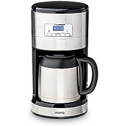H.Koenig STW26 Cafetera de Goteo Isotérmica Programable 1000 W, 1.2 litros