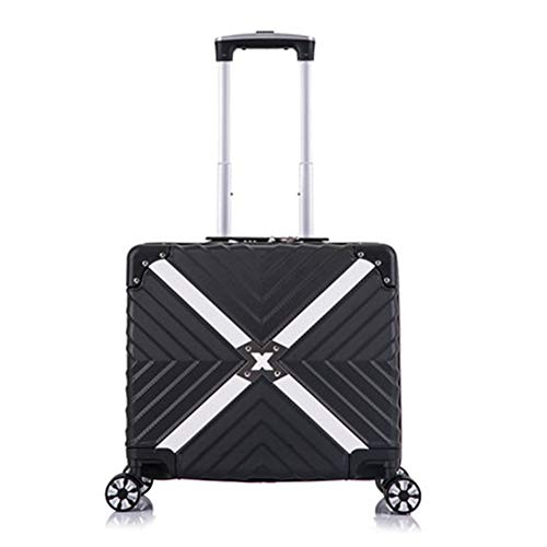 LJSHU Hombres Mujeres Trolley Case ABS + PC Zipper