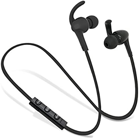 Urbuds R1 Auriculares Sport inalámbricos Casco con Micrófono Bluetooth 4.1 Estéreo para Correr Resistente al Sudor, Earphones deportivos inalámbricos para iPhone, Samsung