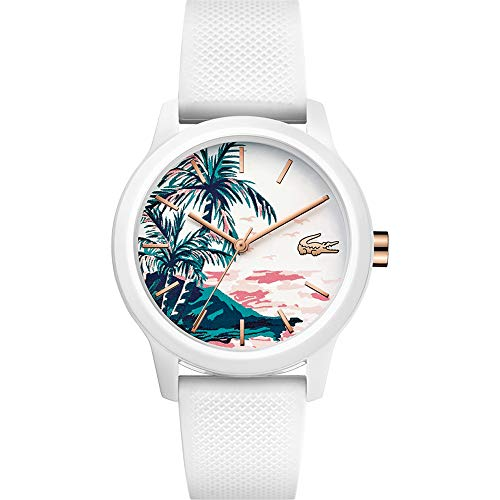 Lacoste Damen Analog Quarz Uhr mit Silikon Armband 2001085