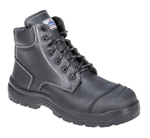 Chaussures de sécurité montantes Portwest Brodequin Clyde S3 HRO CI HI FO SRC noir