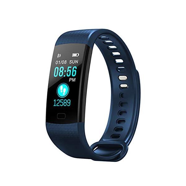 Milnnare Reloj Inteligente Presión Arterial Frecuencia cardíaca Monitor de sueño Podómetro Sports Fitness Smart Pulsera - Purple 5