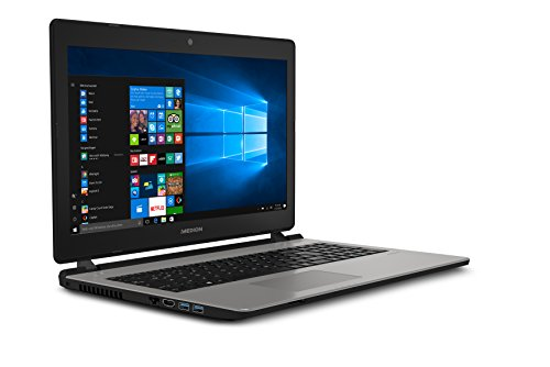 Medion Akoya E6435 MD 60329 396 cm 156 Zoll HD demonstrate Notebook Intel root i5 7200U 1TB HDD 128GB SSD 8GB RAM Intel HD Grafik DVD RW Win 10 household silber Notebooks