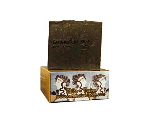 CARIA Kiefer teer seife (trockene Haut Ekzeme Schuppenflechte) natürlich handgefertigt türkischen Olivenöl Kokosnuss Kakaobutter (vegan) Pine Tar Soap 110g Olivenöl Soap Bar