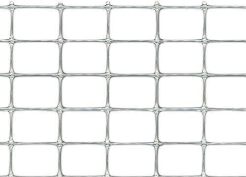 Tenax 72250132 millennium - rete per recinzioni in plastica effetto metallo, colore: argento