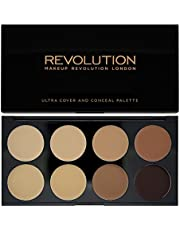 Makeup Revolution London Ultra Cover and Concealer Palette Medium/Dark, 10g