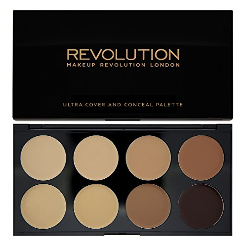 Makeup Revolution Ultra Cover and Concealer Palette Medium/Dark, 10g