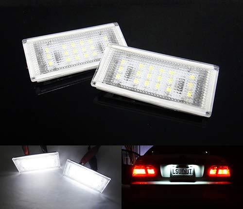 2 x LED licence lampe de plaque d'immatriculation Blanc Canbus pour 2003-06 E46 série 3 LCI Coupé Cabriolet M3