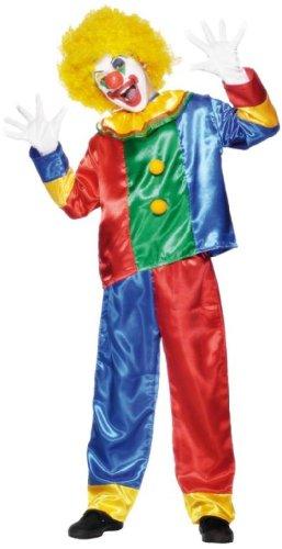 Smiffy's - Clownkostüm Kostüm Clown Kinderkostüm Fasching Gr. 44/46 (S), 48/50 (M