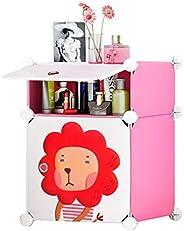Cubic Accessories Box, Pink & White - H 54 cm x W 37 cm x D 3