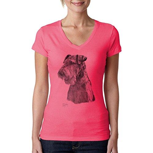 Im-Shirt - Hundemotiv: Airdale cooles Fun Girlie Shirt - verschiedene Farben Light-Pink