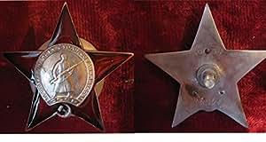 WW2 URSS (Union soviétique) Collection militaire russe Ordre de l'Étoile rouge (trois rivets) 1941 (historique ordre d'attribution souvenir, épinglettes) COPIE