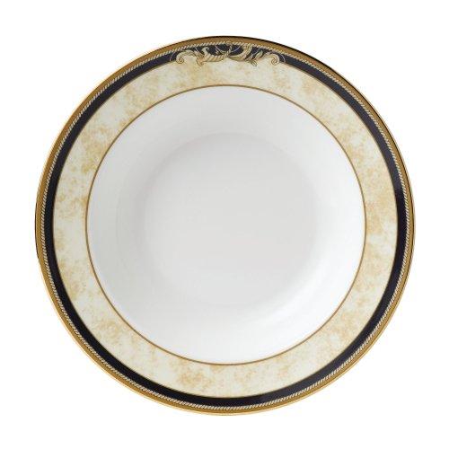 Wedgwood Cornucopia Servierplatte, 34 cm Cornucopia, Suppenteller, 21,3 cm White, Gold, Ivory, Navy Gold-rimmed Soup Bowl