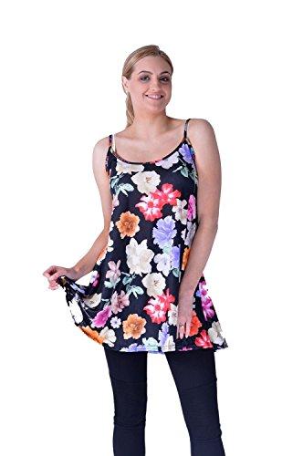 Mymixtrendz® Women Ladies Cami Cool Summer Army Printed Tartan Check Flare Swing Skater Cami Dress Top
