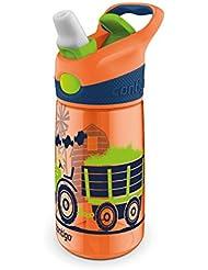 Contigo Striker - Botella antigoteo con boquilla plegable, color naranja, 420 ml