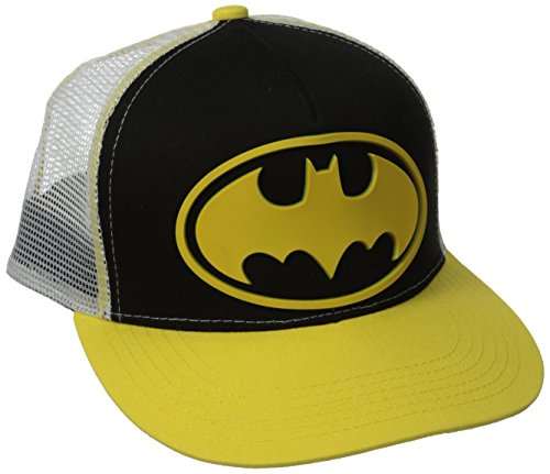 DC Comics Batman Rubber Logo Snapback Gorra