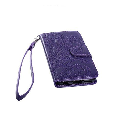 Fatcatparadise, Borsa a spalla uomo Coffee iPhone 6 Plus/6S Plus Purple