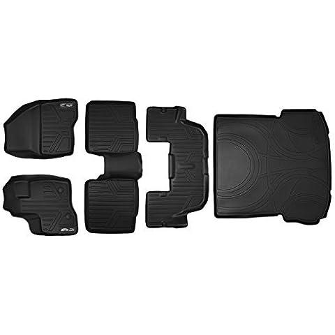 Maxliner MAXFLOORMAT Complete Set Custom Fit All Weather Floor Mats For Select Ford Explorer Models - (Black) by MAXLINER