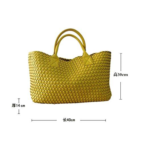Mode Klassische Handgewebte Doppelseitig Handtaschen Big Bags Europa Und Amerika Mobile Damen Große Taschen Große Kapazität Lässig Gehobener Luxus SilverGray