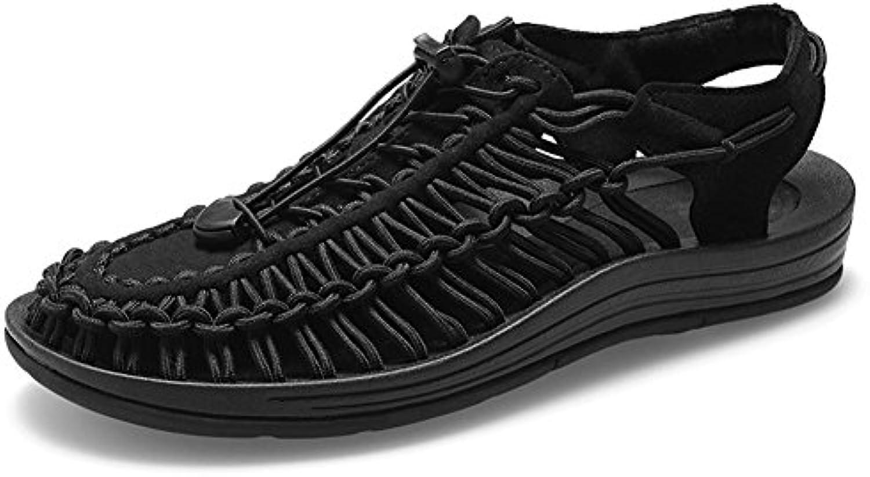 NSLXIE Scarpe da uomo Sandali da spiaggia Summer Summer Corda intrecciata Roma Coulisse Closed Toe Traspirante... | La Vendita Calda  | Uomo/Donne Scarpa