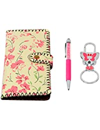 STRIPES Beautiful Women's Designer Wallet And Matching Pen And Key Chain Gift Set