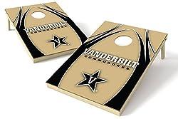 Wild Sports Ncaa Vanderbilt Commodores 2x3 Wood Tailgate Toss Platinum College V Logo Game, Multicolor, 24x36