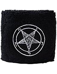 Schweißband Motiv Fahne / Flagge Baphomet Church of Satan + gratis Aufkleber, Flaggenfritze®
