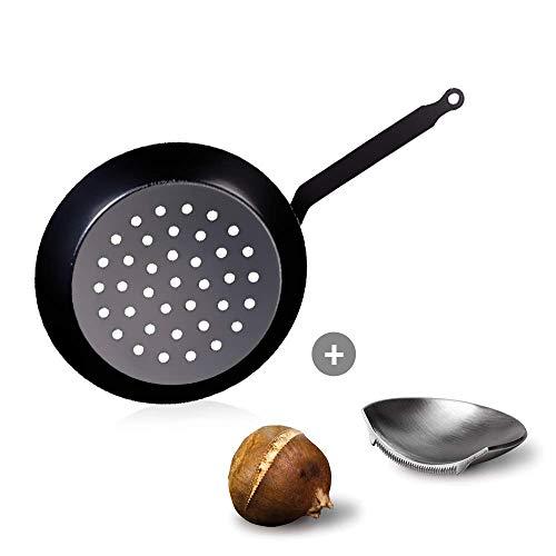 Culinaris Set de Buyer Maronen Poêle à Maronis 28 cm et Jack des Maronis de Take2