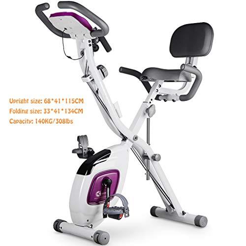Große Kapazität 2 in1 Folding Magnetic Upright Heimtrainer mit Puls, Indoor-Heimtrainer mit einstellbaren Armbändern und LCD-Monitor X-Bike