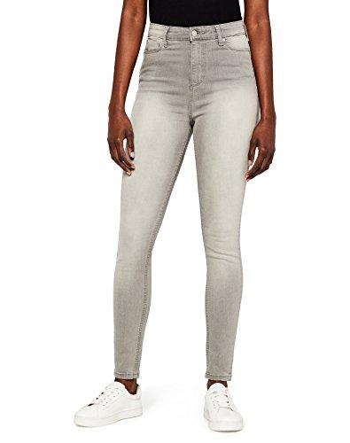 MERAKI NEWSTWP005 High Waist Jeans, Grau (Grey), W28/L32