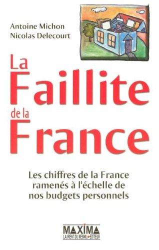 La Faillite de la France : Les chiffres de la France ramenés à l'échelle de nos budgets personnels