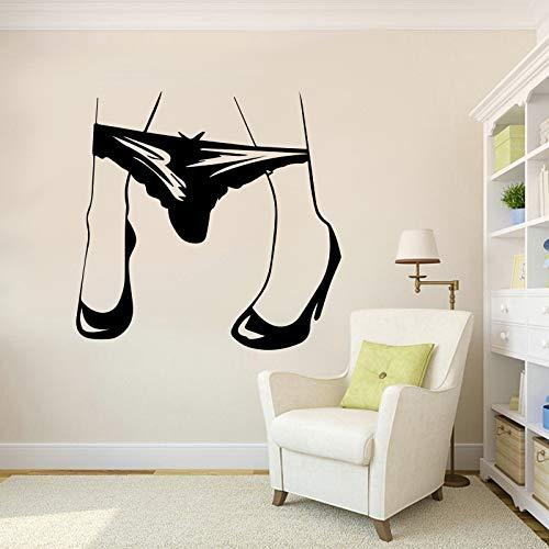 Frauen Höschen Kreative Wandaufkleber Aufkleber Für Schlafzimmer Wohnzimmer Dekoration Abnehmbare Wand-dekor 56 * 58 Cm (Sie Auf Höschen Namen Mit)