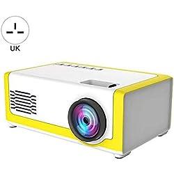 Niumen Mini Projecteur, Projecteur Portable Videorojecteur, Full HD Home Cinéma Bluetooth HDMI pour Gaming/Laptop/PS4, Support HD 1080P Compatible HDMI AV USB Micro Connecter À PC Laptop Game