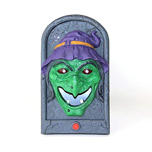 Ouken 1 pz decorazione di halloween ciondolo campanello spaventare giocattoli halloween puntelli trucco (strega)