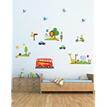 'Wheels On The Bus' Nursery Rhyme Wall Stickers/Decals Which Come To Life In Childrens Bedrooms, Kids Playrooms And Baby Nursery (Large)